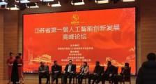 江苏省第一届人工智能创新发展高峰论坛召开(图文)